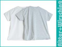 Basic-T-Shirts Weiß für Kinder