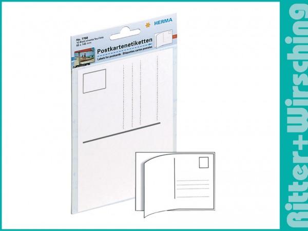 Herma Postkarten-Etiketten