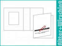 Passmappen Classic Fotokarton weiß matt