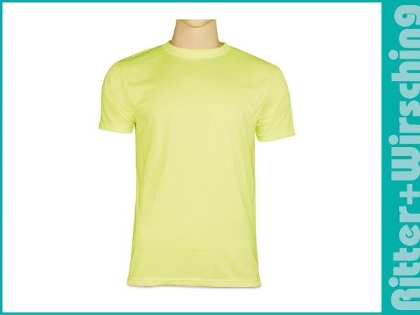 Basic-T-Shirts Signalgelb