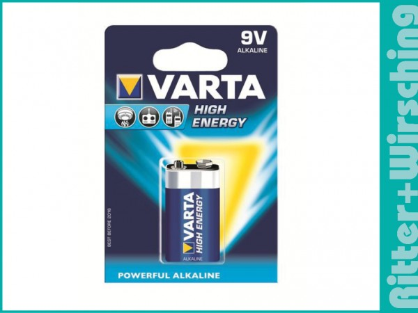 Varta High Energy 9V-Block 6AM6 1604