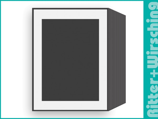 Leporello Leinenkarton weiß