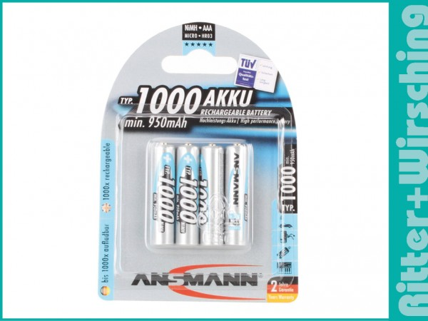 Ansmann Micro Akkus 800 mAh
