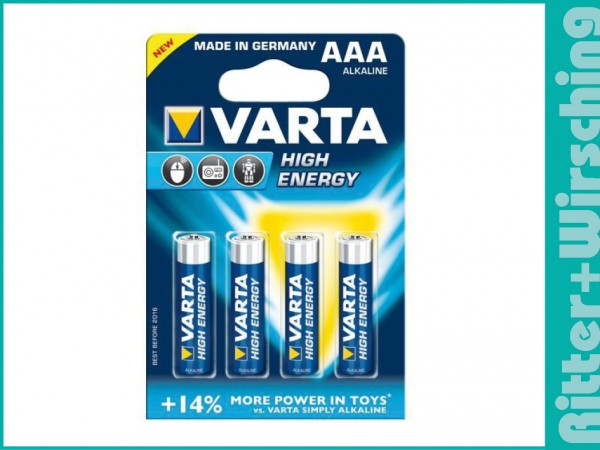 Varta High Energy 2400 Micro LR03 AAA