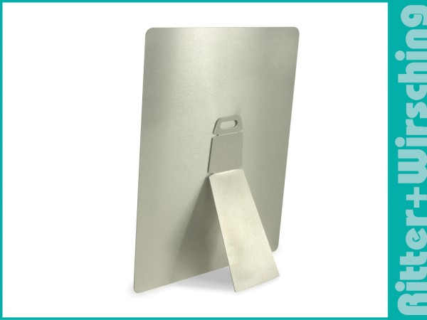 Aufsteller/Aufhänger für kleine Aluminiumplatten