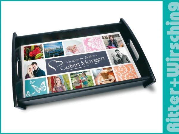 Tabletts mit bedruckbarer Bodenplatte