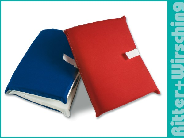 Sitzkissen Rot und Blau