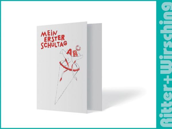 """Leporello-Umschlag """"Erster Schultag"""""""